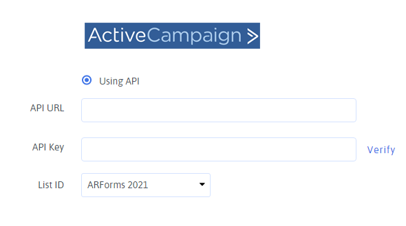 Advanced Activecampaign integration with ARForms - 2