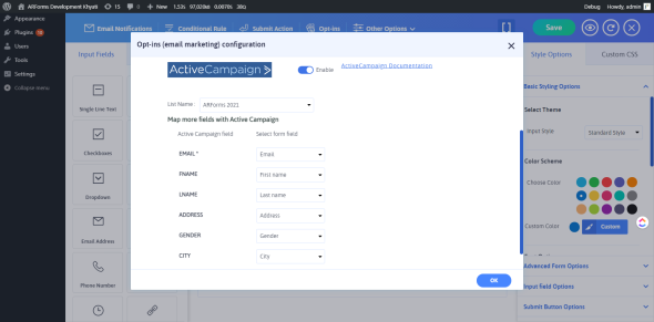 Advanced Activecampaign integration with ARForms - 3