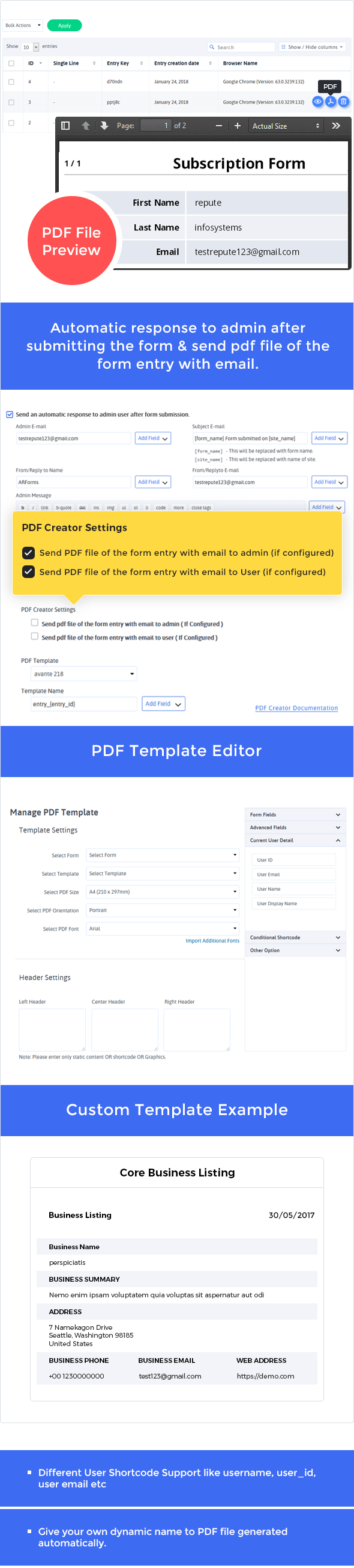 Pdf creator for Arforms - 3