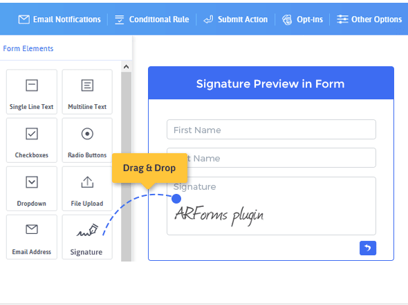 Signature Addon for Arforms - 2