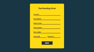 Taxi Booking Form