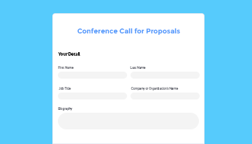 Conference Call for Proposals