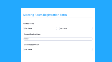 Meeting Room Registration Form