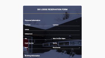 SKI LODGE RESERVATION FORM