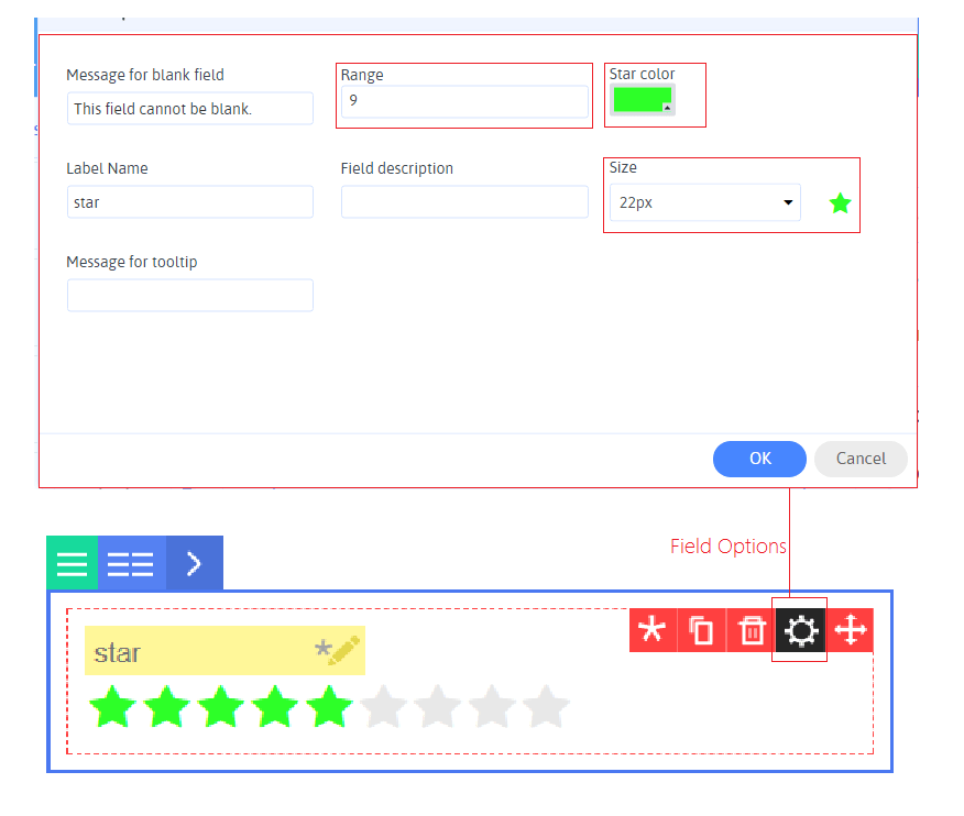 Star rating Field Option