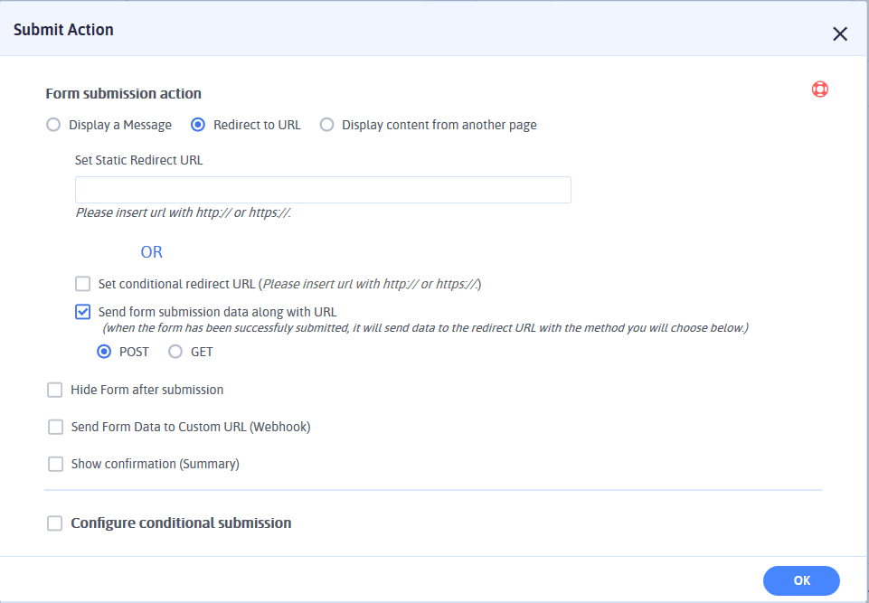 Redirect Form After Submit Button