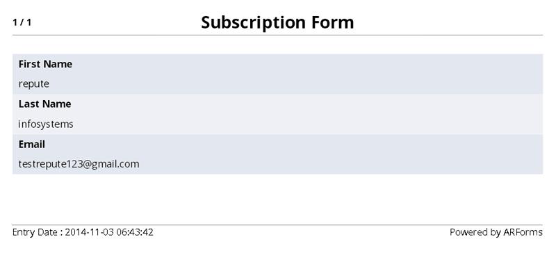 ARFoms PDF Creator - Template 2