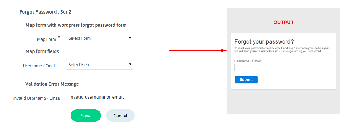 ARARFoms User Signup - Forgot Password Configuration