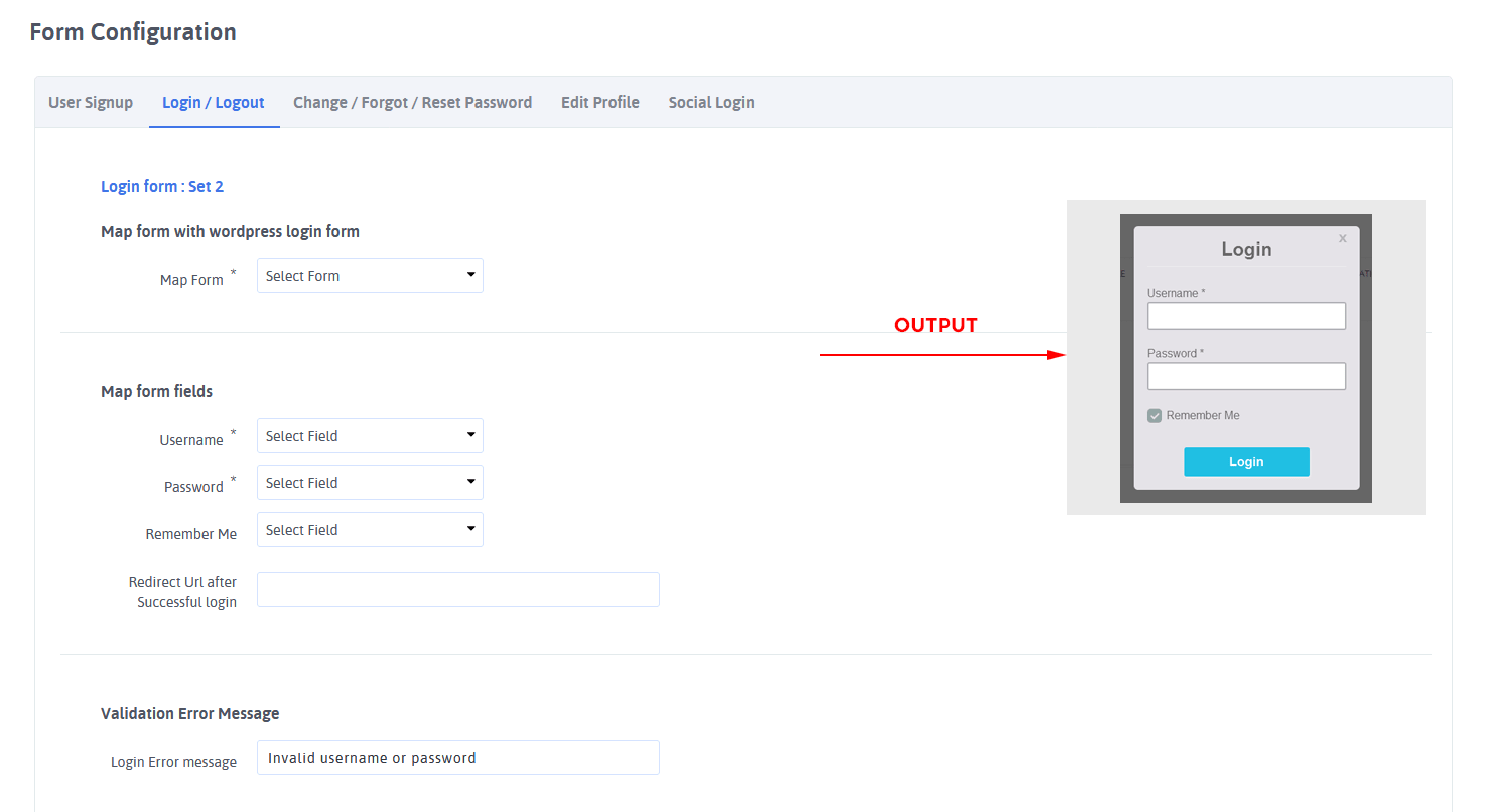 ARARFoms User Signup - Login Configuration