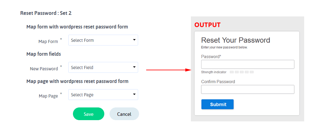 ARARFoms User Signup - Reset Password Configuration