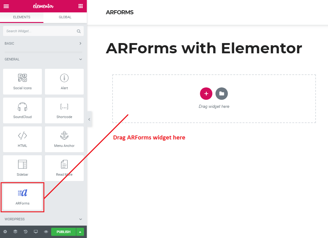 ARForms with Elementor