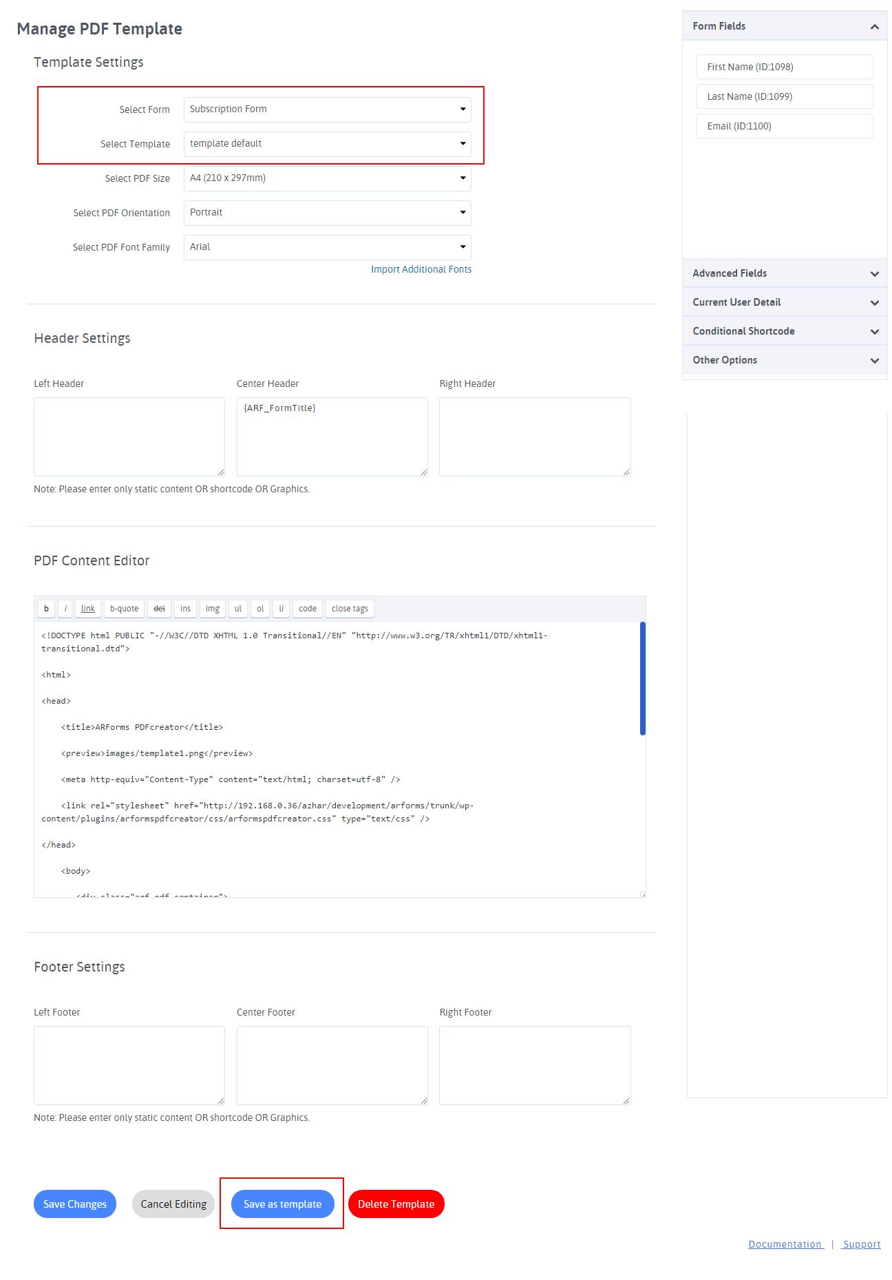 ARFoms PDF Creator - PDF Template Editor