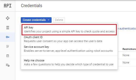 ARFoms Google Spreadsheet - OAuth Client ID
