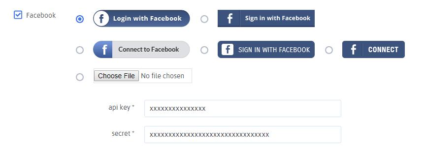 ARForms User Signup - Facebook Configuration