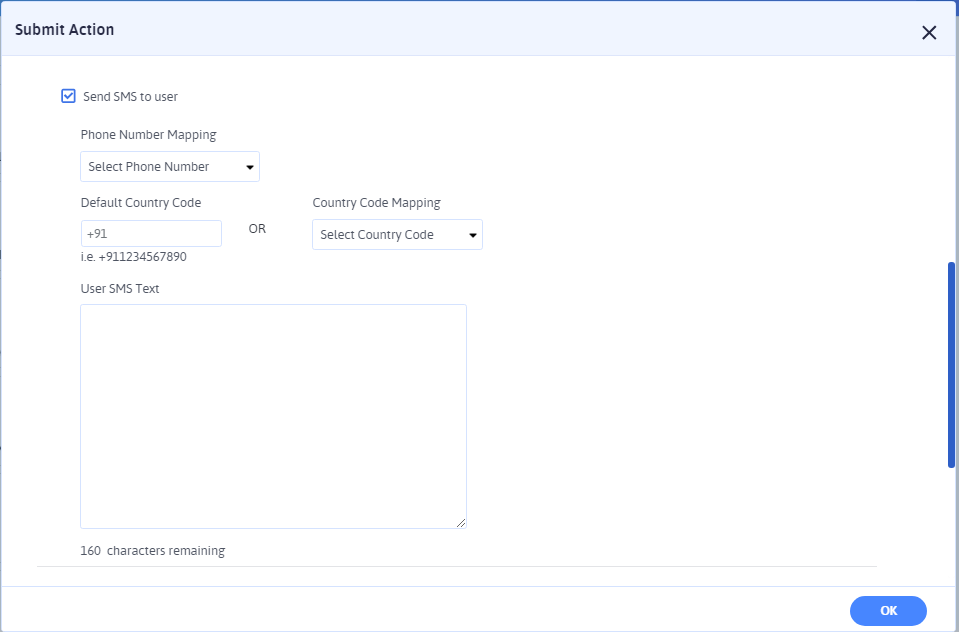 ARForms SMS Configuration for User