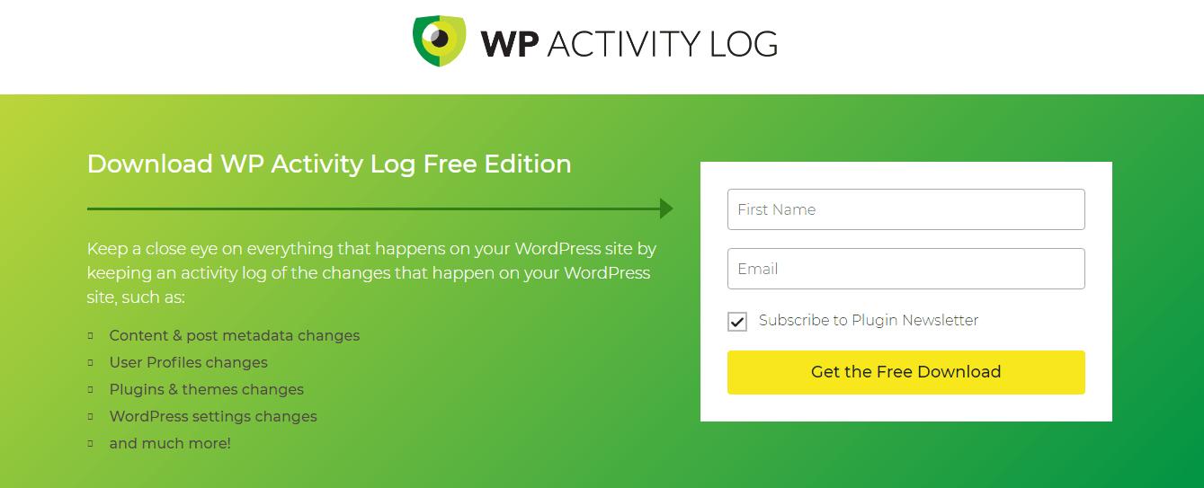 WordPress Audit log Plugins - WP Activity Log