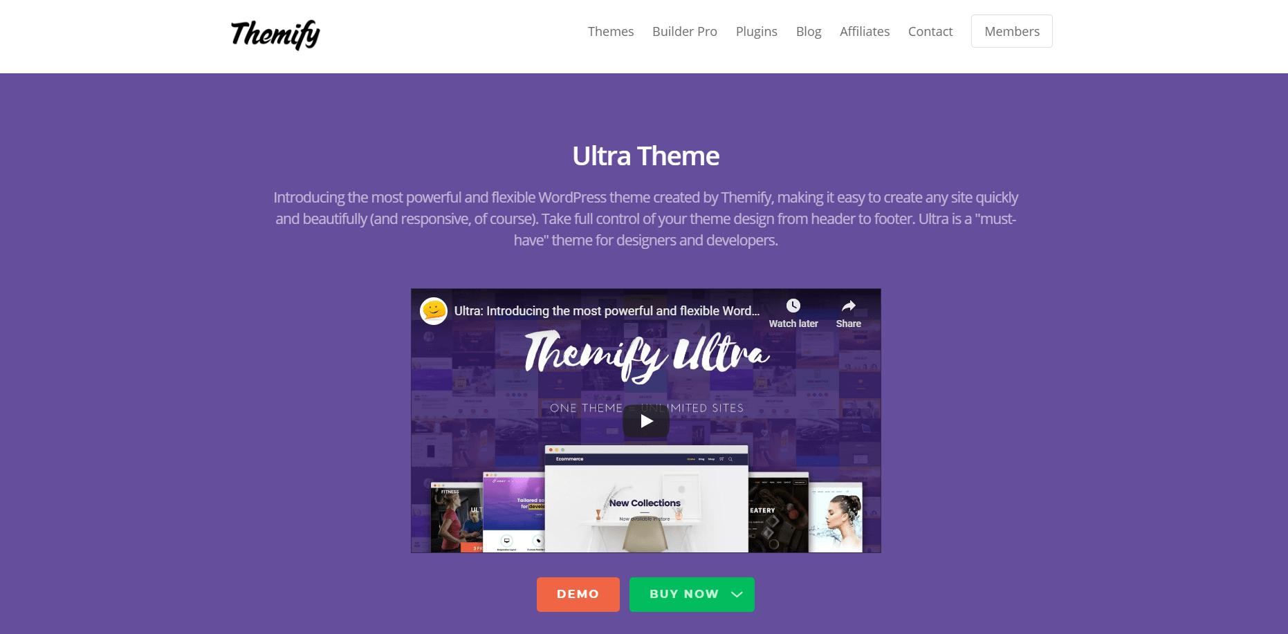 WordPress Multi-purpose themes - Ultra Theme
