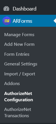 ARForms Authorize.net